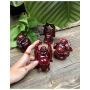 Boeddha rood, 9 cm, schaal en kruik