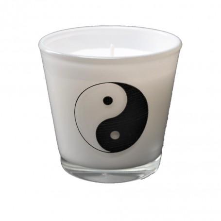 kaars in glas yin yang