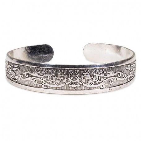 Tribal_Flower_Design_Miao_Silver_Bracelet