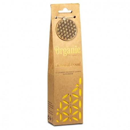 Organic Goodness Sandalwood incense cones + burner