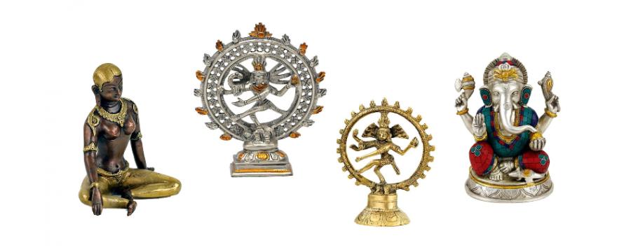 Hindu Statues - Shiva, Ganesha, Parvati