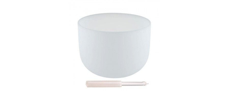 Crystal Singing Bowls Quartz Crystal White