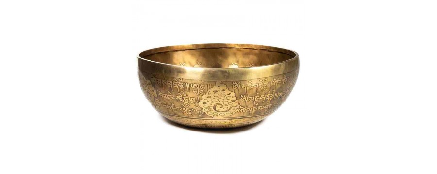 Singing Bowls Tibetan Designs - carved