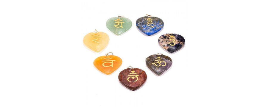 Chakra and Wicca mineral sets