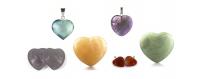Gemstones hearts polished