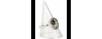 Gemstone rings silver