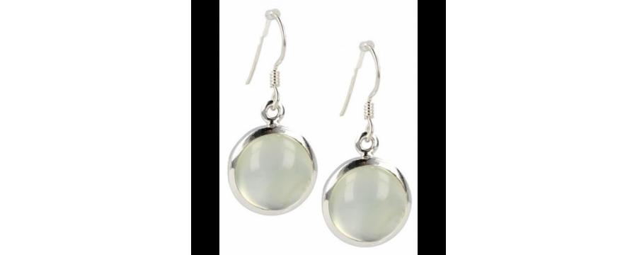 Gemstone earrings silver