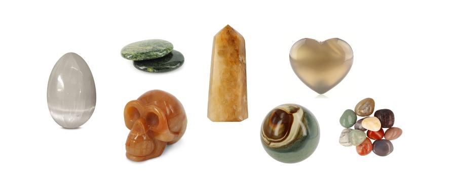Minerals polished